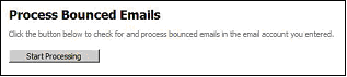 Figure 20 Processing Bounced Emails Start Processing