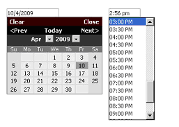 Figure 34   Manual Event Logging Select Date and Time