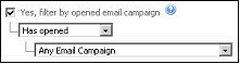 Figure 39   Searching Contacts Filter By Opened Email
