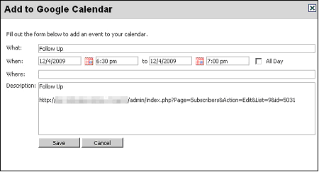 Figure 42   Google Calendar Configure Reminder
