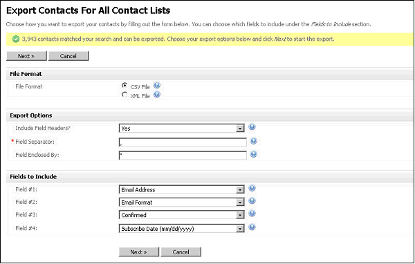 Figure 51   Specify Contact File Details