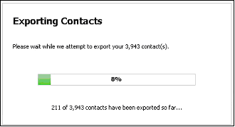 Figure 53   Exporting Contacts